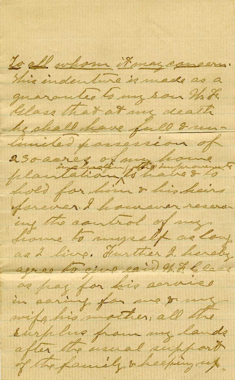 Will of Johann Peter Glass - page 1