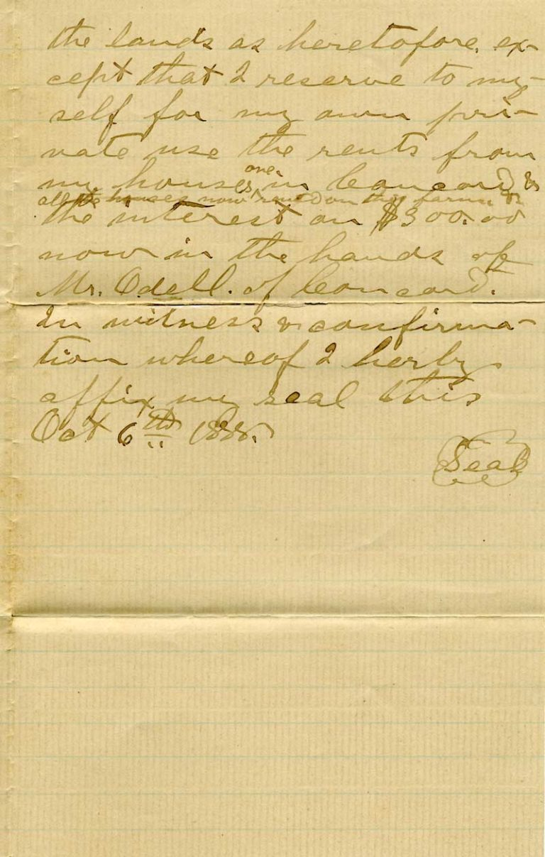 Will of Johann Peter Glass - page 2