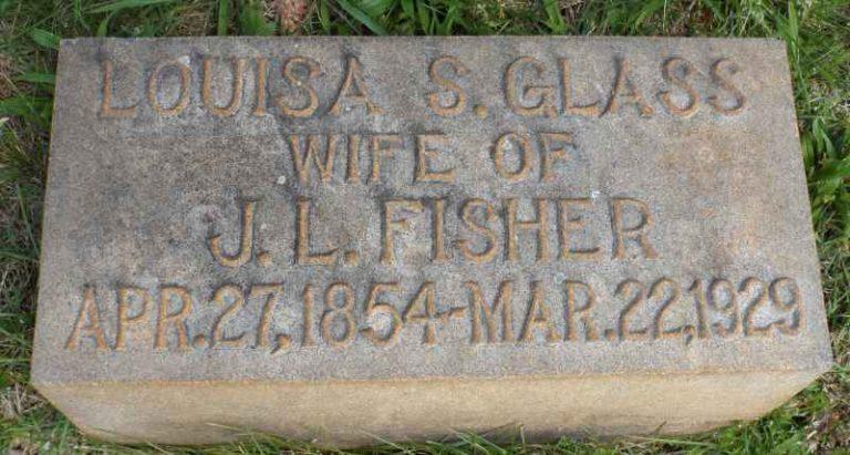 Louisa Glass headstone