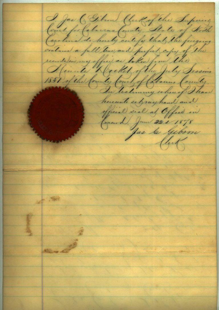 Johann Peter Glass naturalization papers - 2 of 4