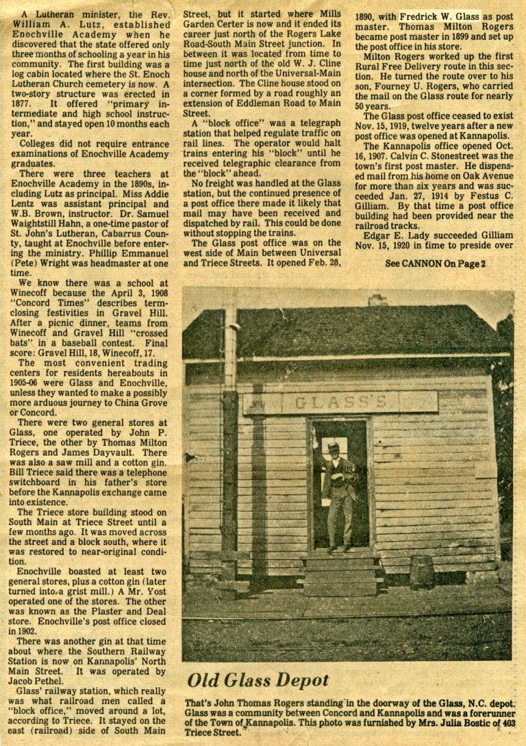 Newspaper article - Town of Glass - part 2