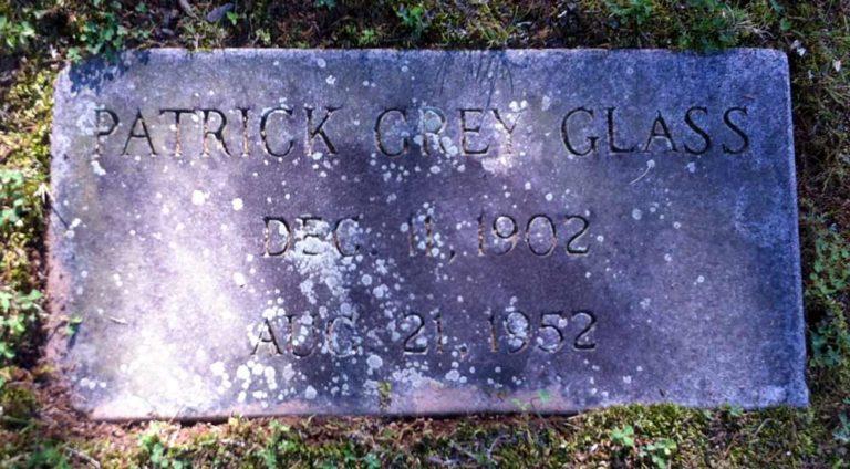 Patrick Grey Glass headstone
