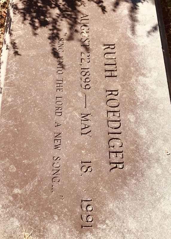 Ruth Roediger headstone