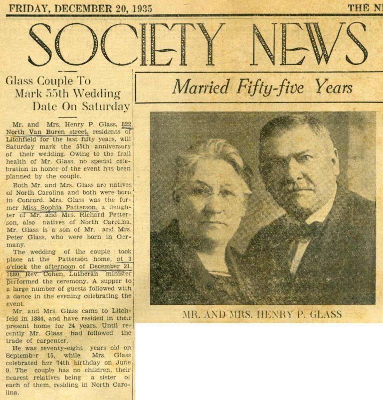 Henry & Sophia's 55th anniversary announcement