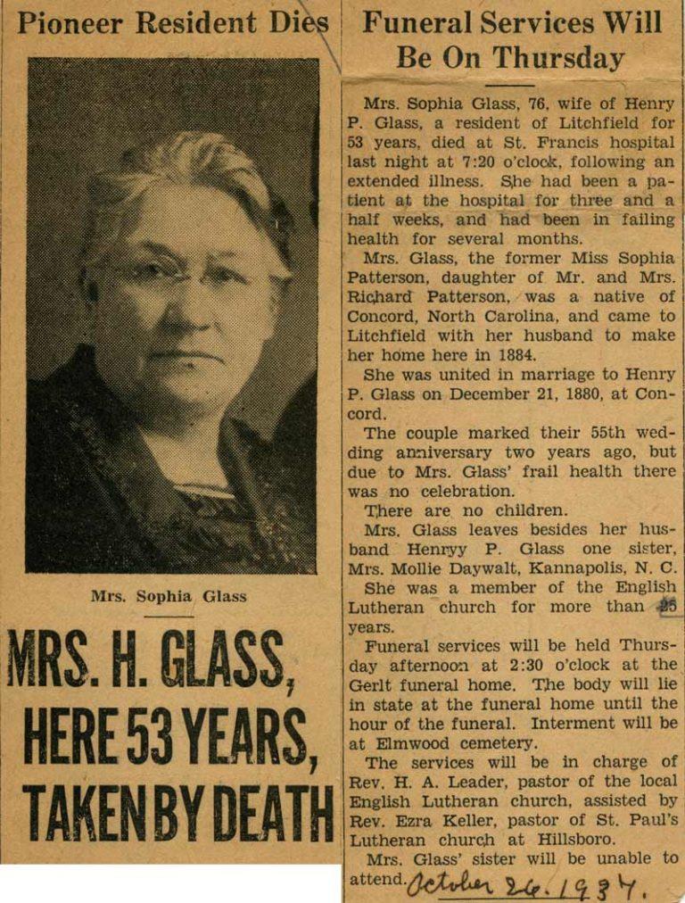 Sophia Glass obituary