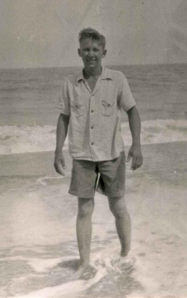 Charles Frank at the beach