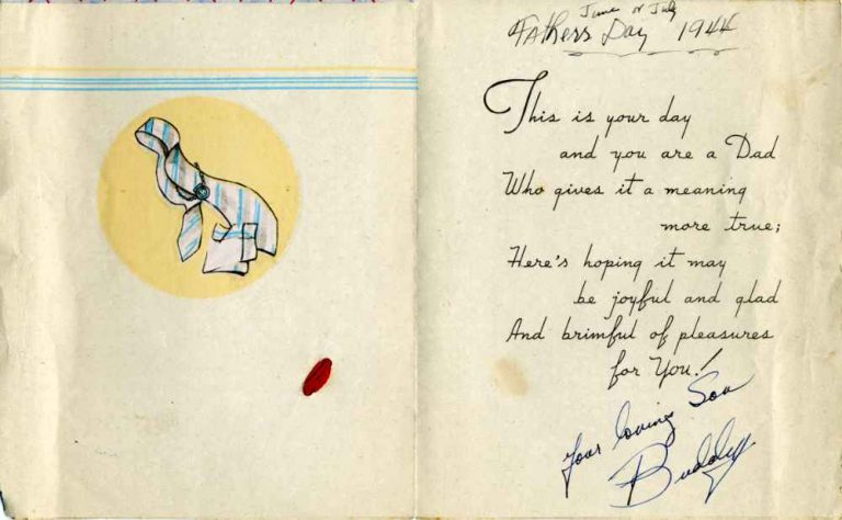 Father's Day card from Buddy - June 1944