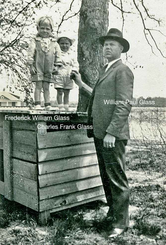 Frederick, Buddy, with their father, William, about 1925