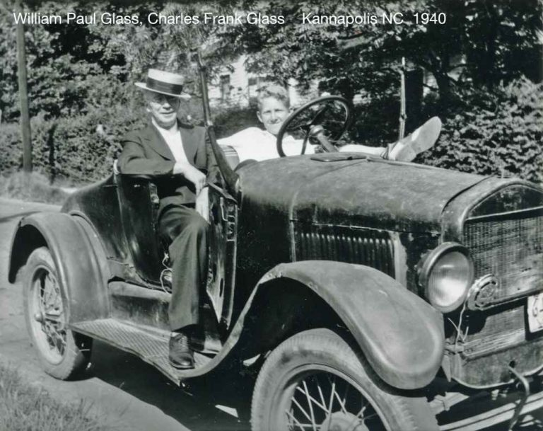 William, Buddy in the old Ford, about 1940