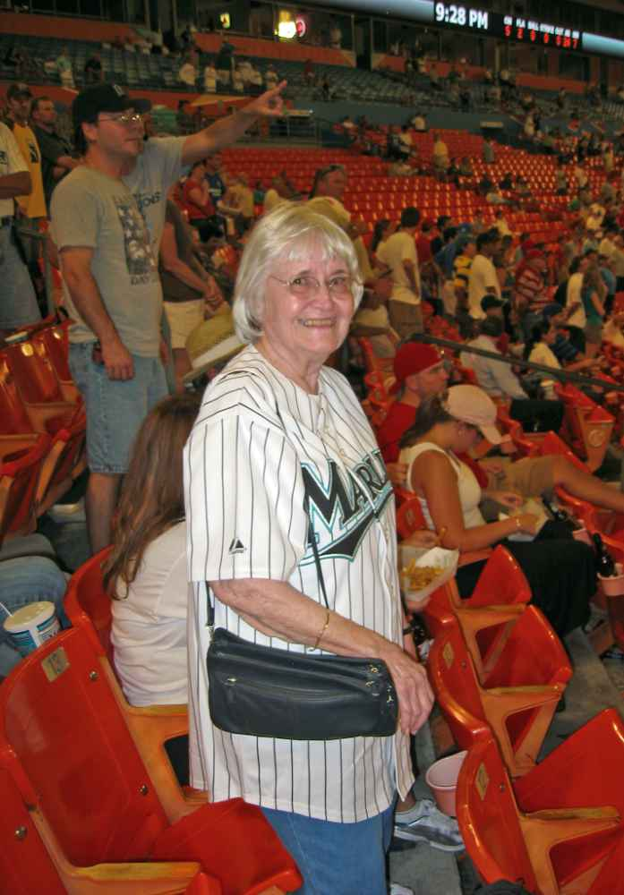 Betty at Marlins game in 2006