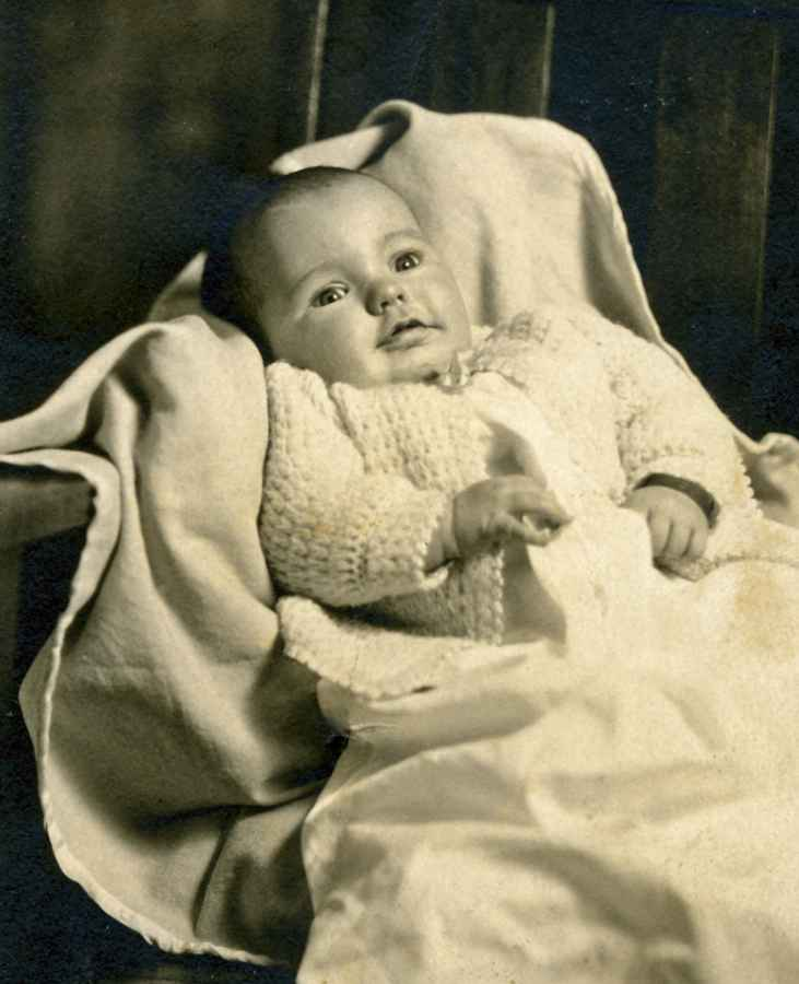 Betty Sue as a baby