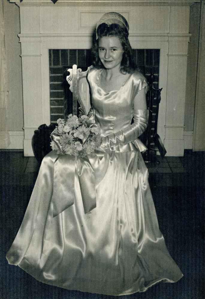 Betty Sue as bridesmaid in cousin Lillian's wedding - Oct 1946
