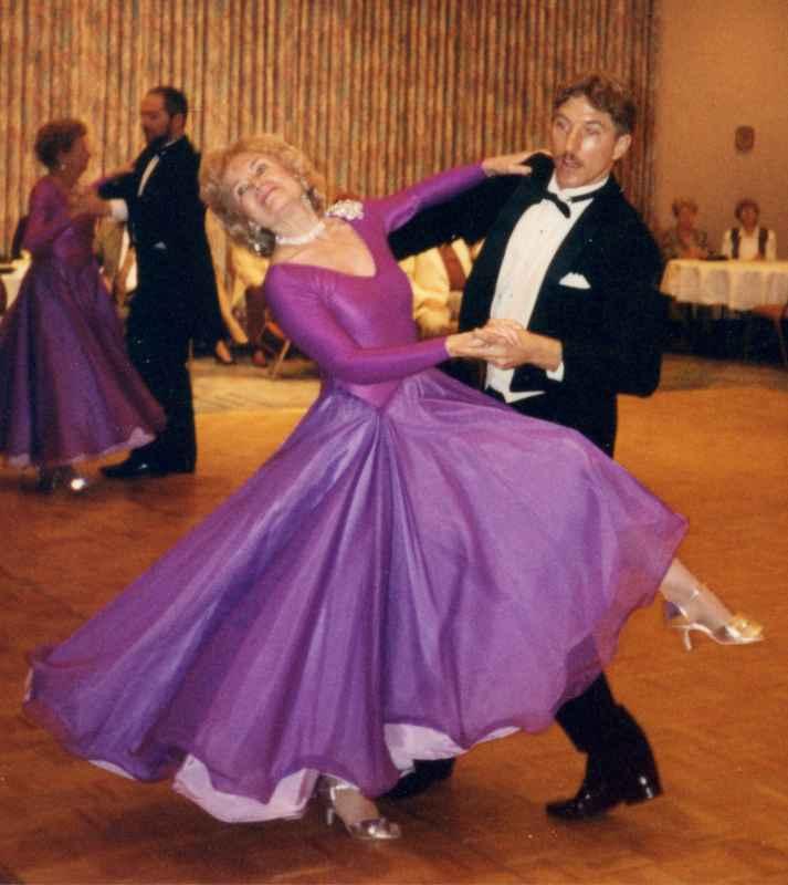 Betty Sue dancing at the Ritz-Carlton