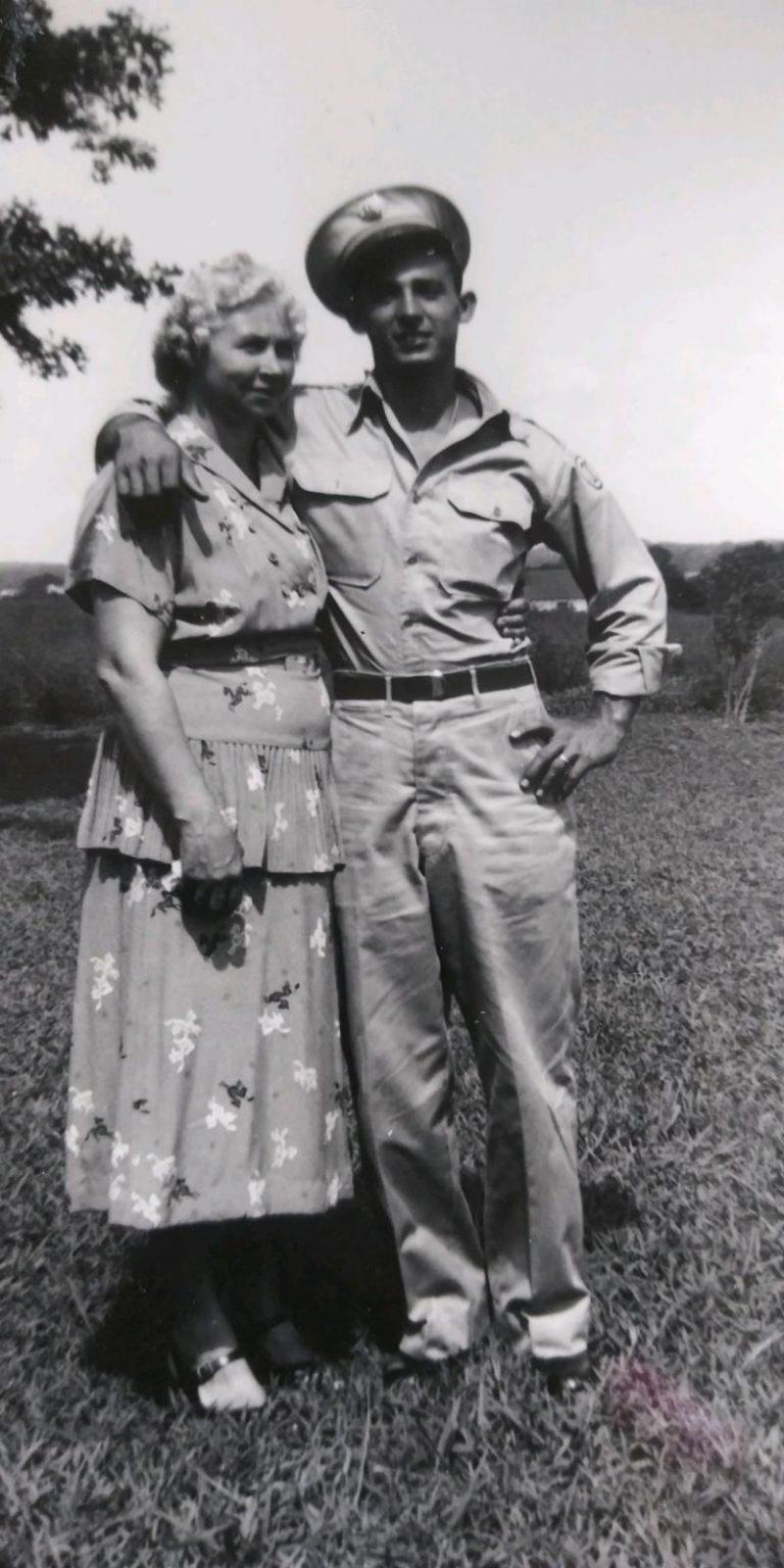 Mary Kathleen with son Robert L Edmiston Sr