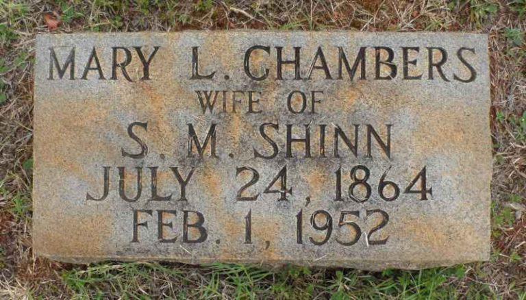 "Mary Louise ""Molly"" Chambers headstone"